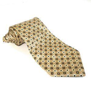 Balenciaga Men Tie Silk Floral Geometric Necktie